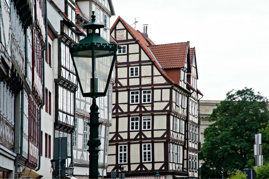 Vakwerkhuizen in de Altstadt van Hannover