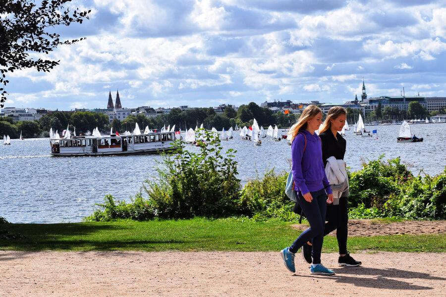 Wandelen aan de Außenalster | Standort Hamburg
