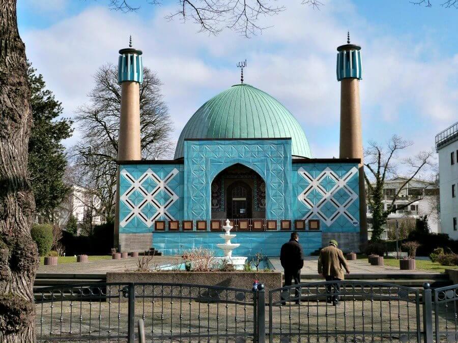 Imam Ali Moskee aan de Alster: lente in Hamburg
