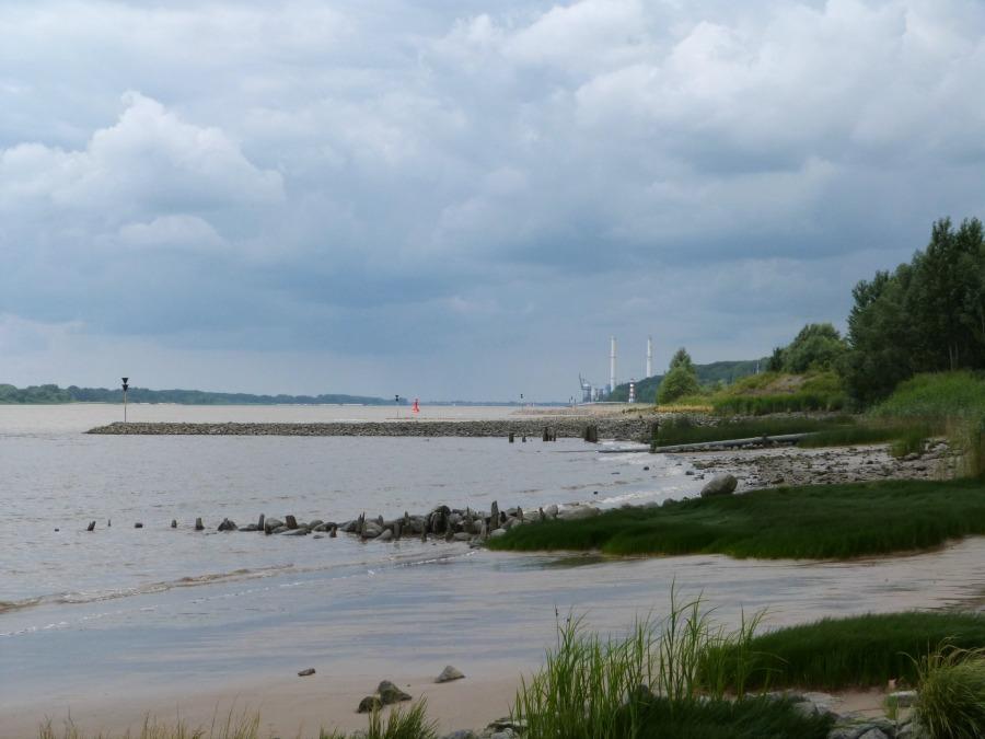 Uitzicht over de Elbe vanaf camping Elbe Camp