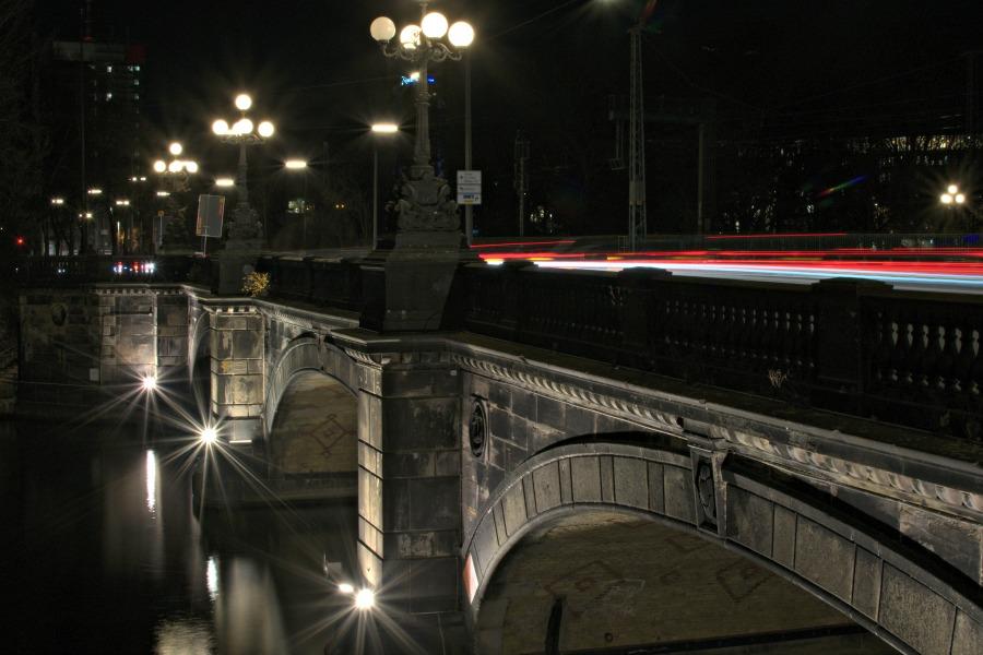 Historische Lombardsbrücke Hamburg