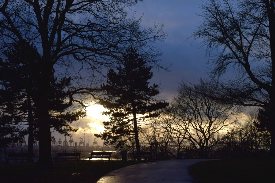Naar het park in Hamburg: Altonaer Balkon