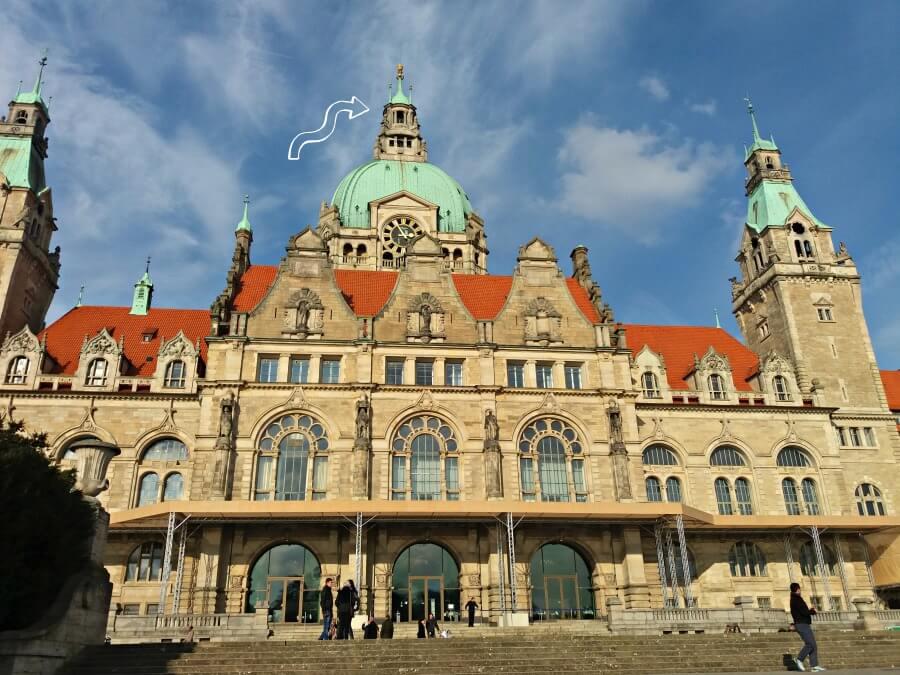 Toen ik de koepel van het Neues Rathaus Hannover beklom   Standort Hamburg