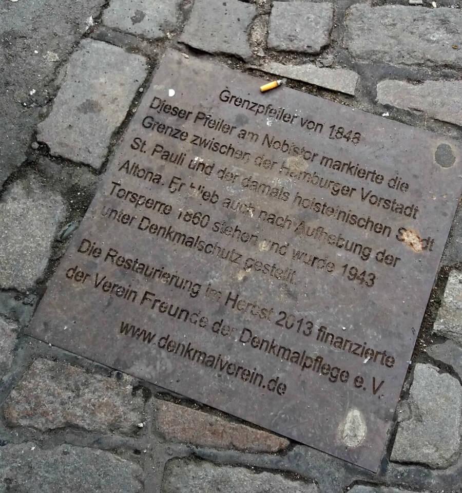 Gedenktafel Nobistor | Standort Hamburg