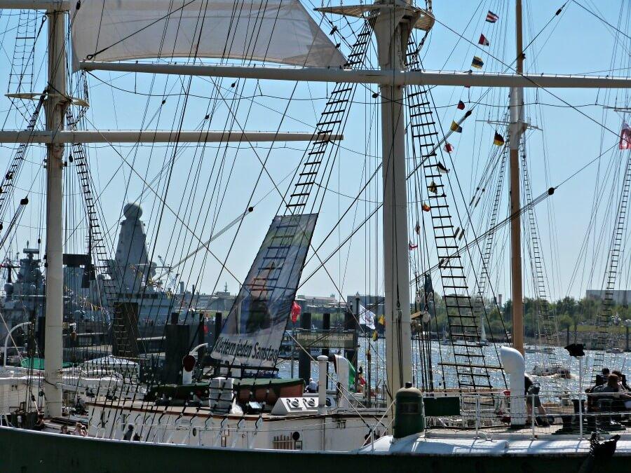 De haven van Hamburg tijdens de Hafengeburtstag