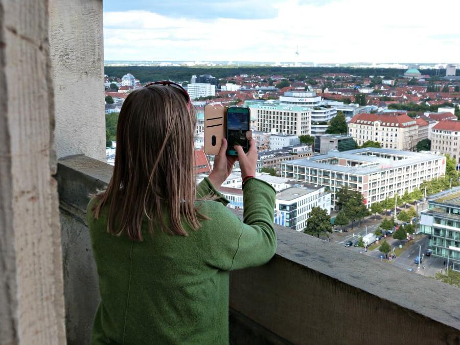 Uitzicht over Hannover vanaf het Rathaus
