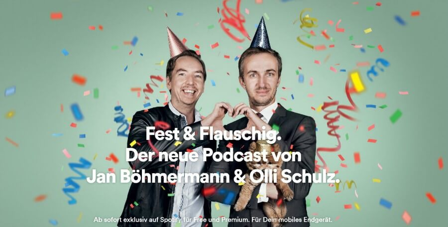 Goede Duitse podcasts: Fest & Flauschig van Jan Böhmermann en Olli Schulz