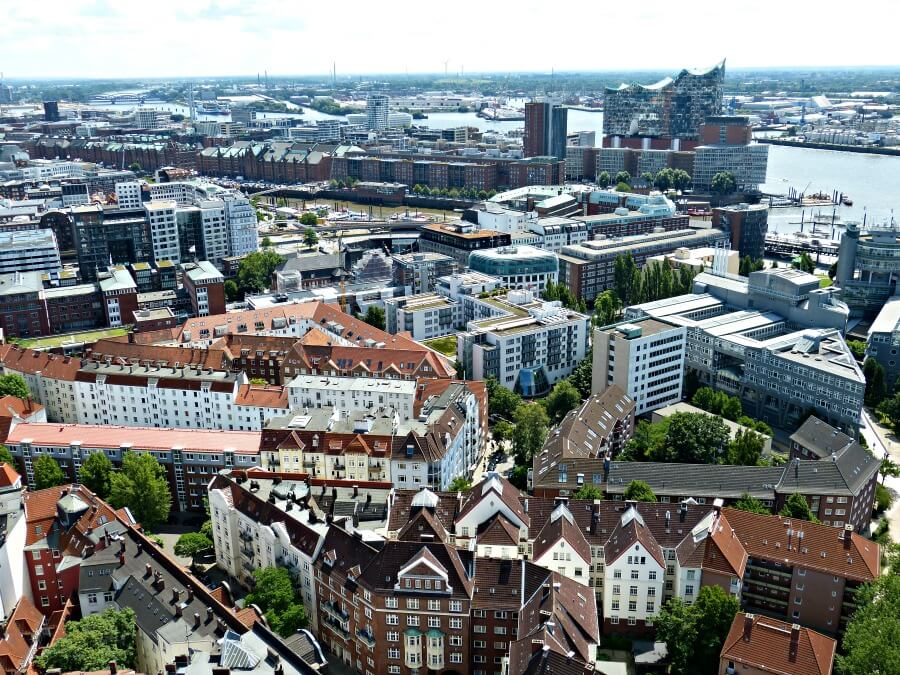 7x uitkijkpunten over Hamburg: Michel