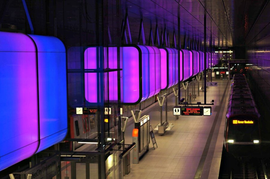 Fotogenieke stations in Hamburg: HafenCity Universität