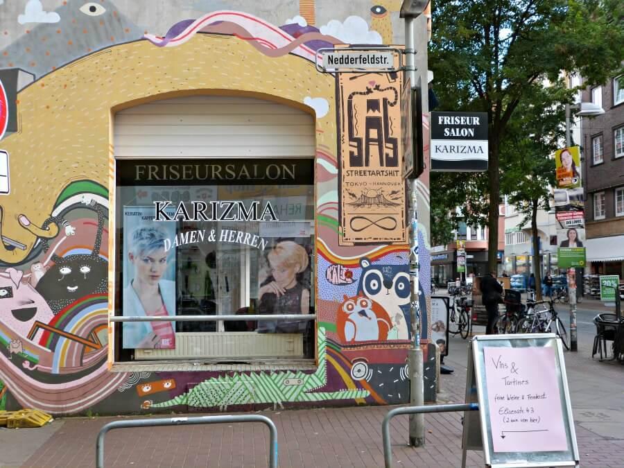 Street art spotten in de Hannoverse wijk Linden