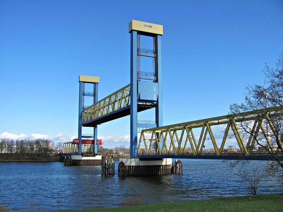 Bijzondere bruggen in Hamburg: Kayttwykbrücke. Foto door Von NordNordWest - Eigenes Werk, CC BY-SA 3.0 de