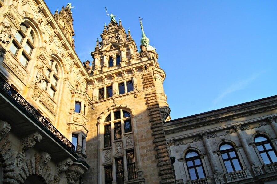 Historische architectuur in Hamburg: het Rathaus