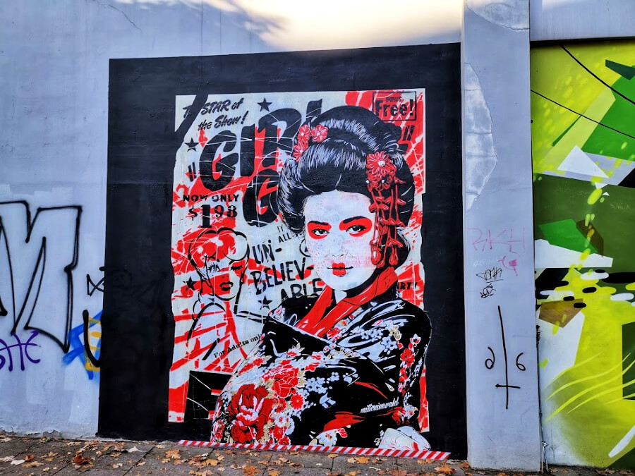 Hamburg in november: street art geht immer   Standort Hamburg