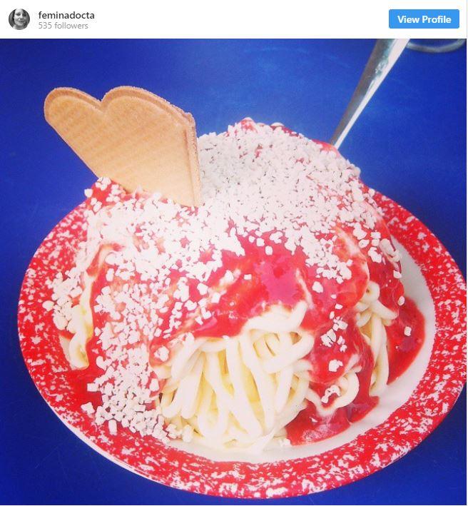 Typisch Hamburg: Spaghetti-Eis