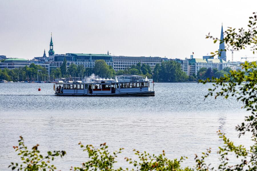 Bootjes kijken aan de Außenalster | Standort Hamburg
