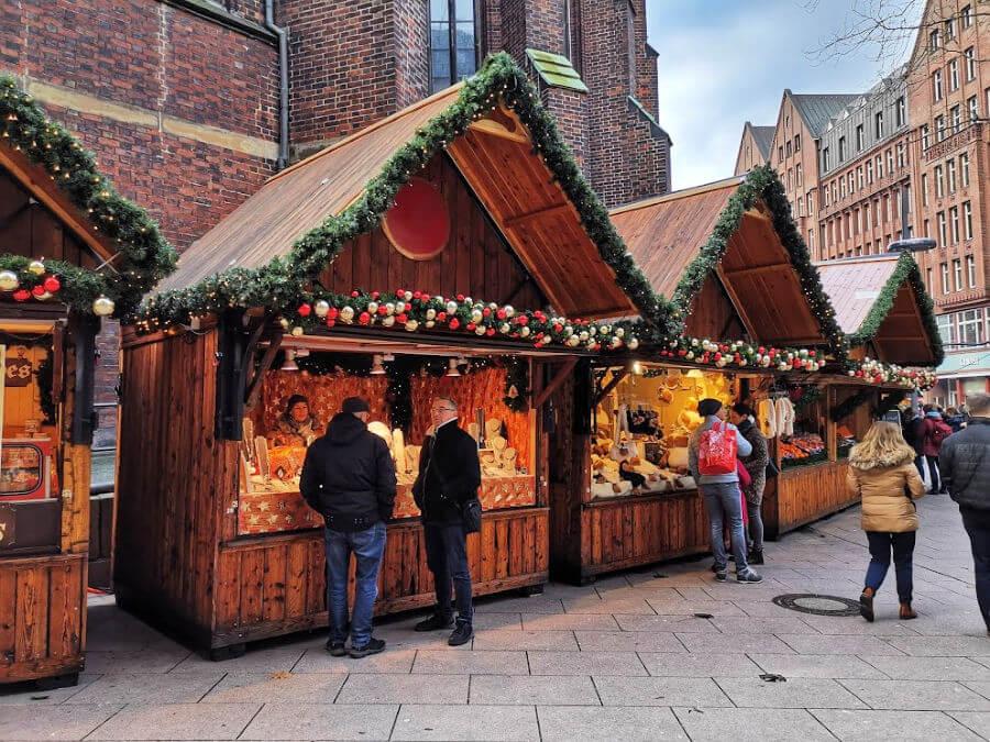 Kerstmarkt bij de St. Petri Kirche is na kerst nog open