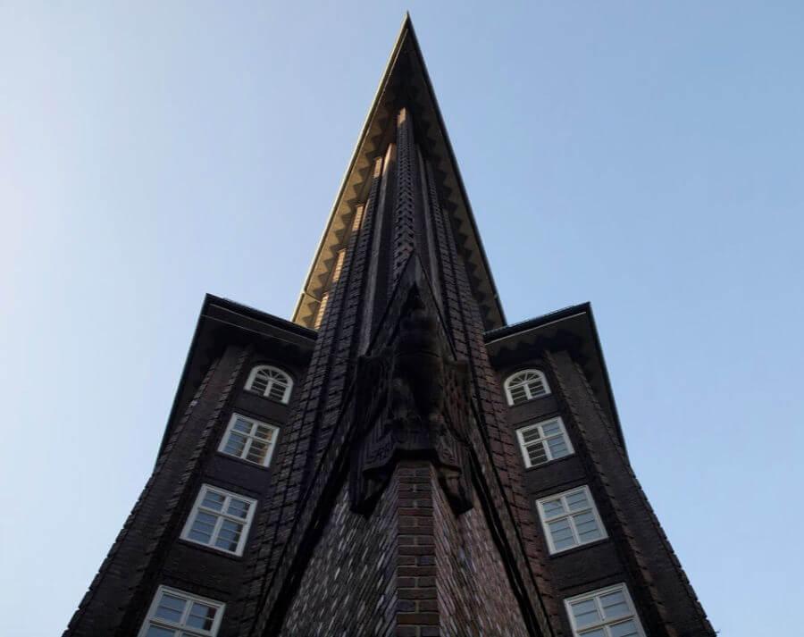 Hamburg in plaats van Berlijn: architectuur zoals in het Kontorhausviertel