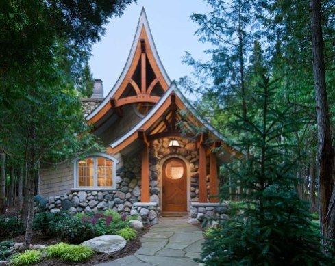Storybook Cottage House PlansHobbit Huts to Cottage