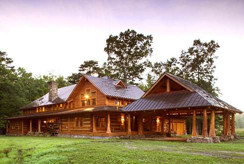 Log Cabin Home Plans A Spectacular Hunter's Haven!
