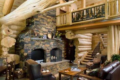 Standout Log Home FireplacesBold and Breathtaking