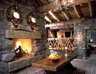 Standout Log Home Fireplaces...Bold and Breathtaking!