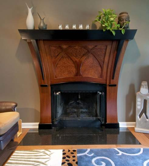 The Art Nouveau Fireplace    Artistry In Wood