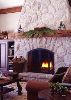 Christmas Fireplace Pictures    Spruce Up Your Stone Surround