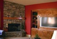 Standout Corner Fireplace Pictures . . . Stone Style!