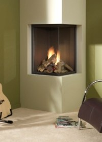 CORNER FIREPLACES: SMALL CORNER GAS FIREPLACES