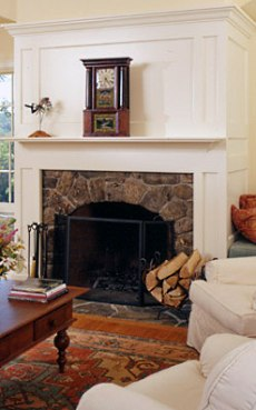 Wood Fireplace Surround Design    MORE Country Casual Mantels