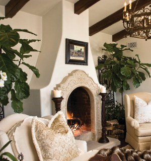 The Spanish Style Fireplace    A Rich  Colorful Heritage