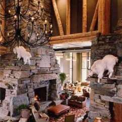 French Country Living Room Colors Pendant Light Standout Stone Fireplace Designs...from Rustic To Refined!