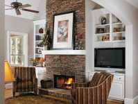 Painting A Fireplace And Alcoves - Easy Home Decorating Ideas