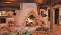 The Kiva Fireplace . . . Steppin' Up & Out, Southwest Style!