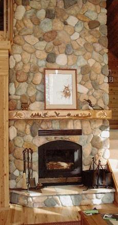 A River Stone Fireplace Rocks