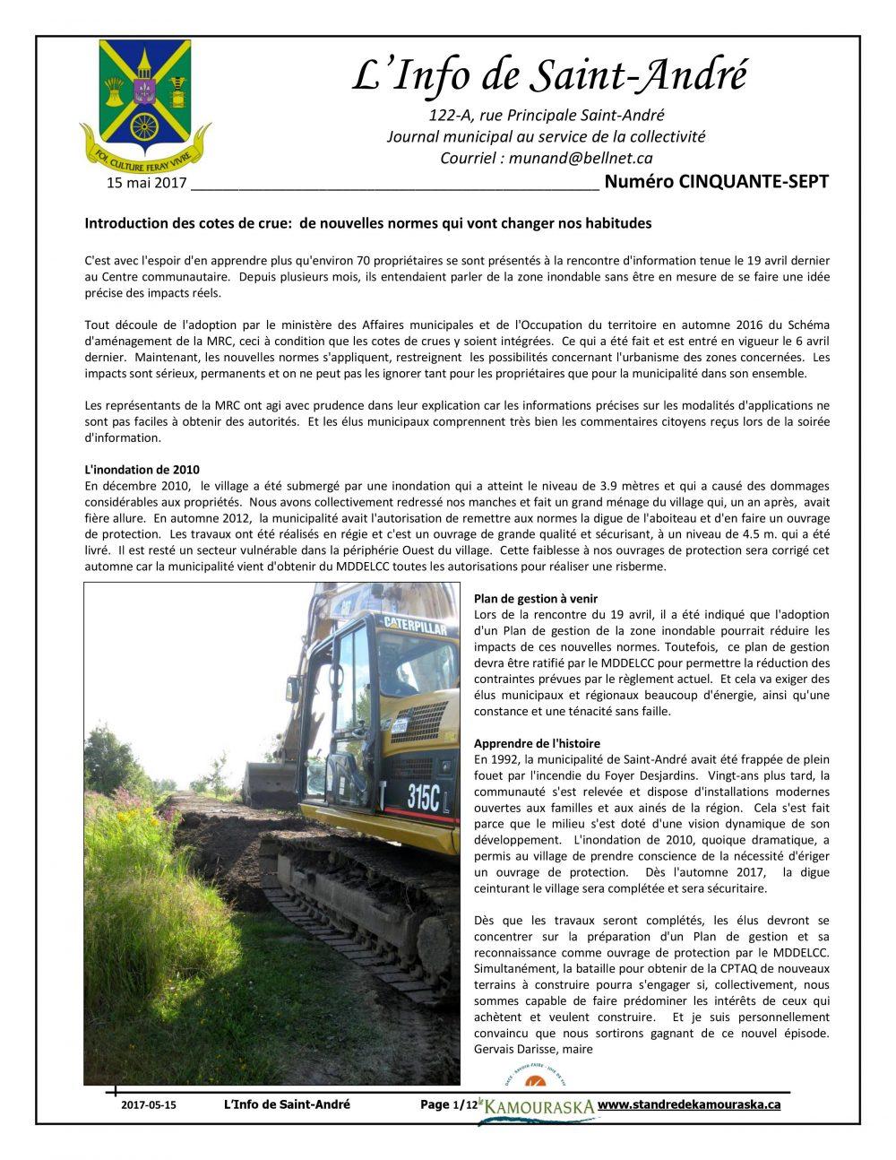 L'info de St-André mai 2017