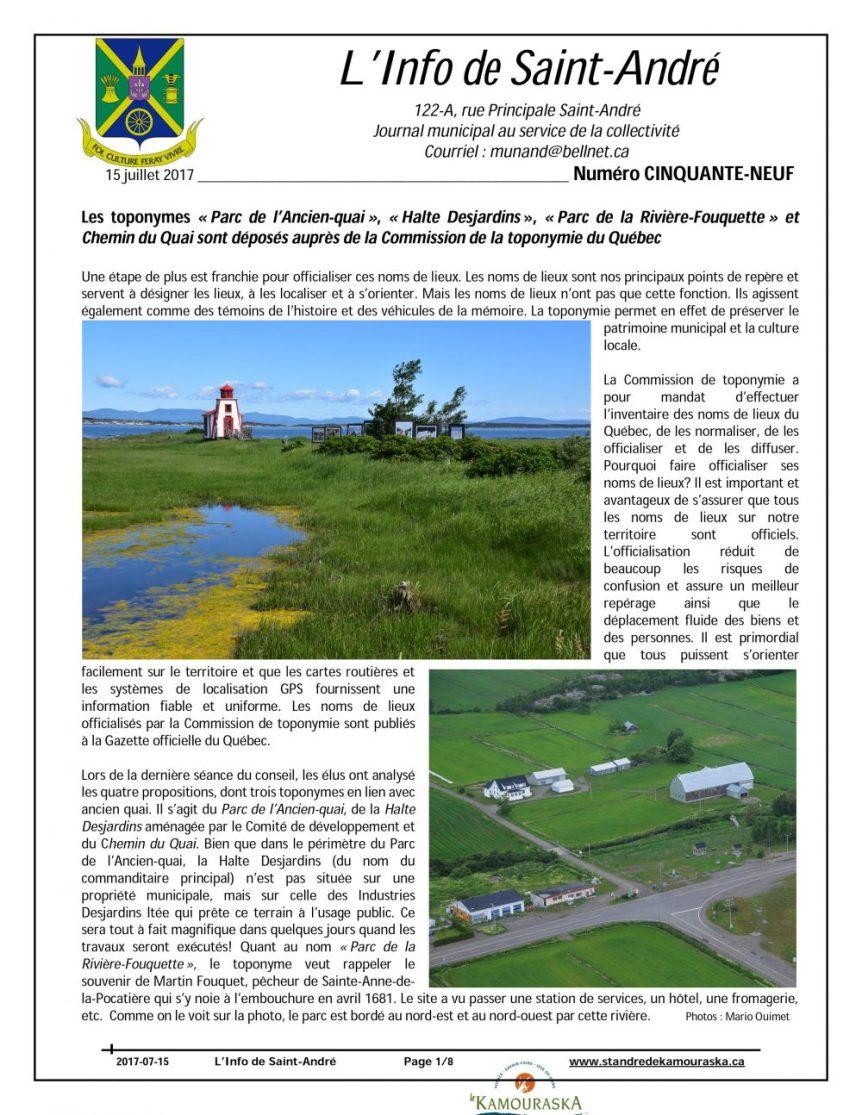 L'info de St-André juillet 2017