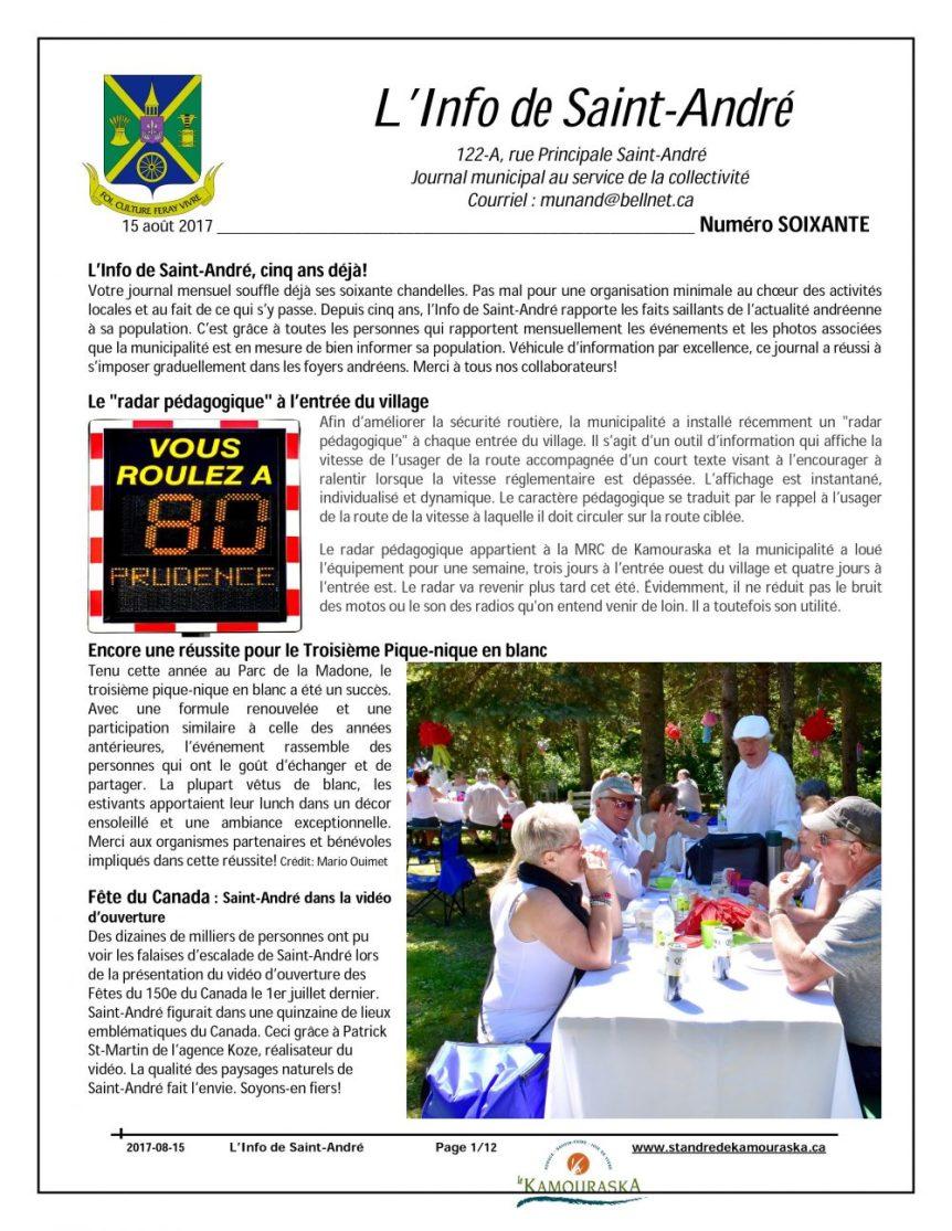L'Info de St-André août 2017