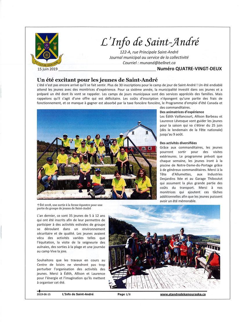 L'info de Saint-André juin 2019