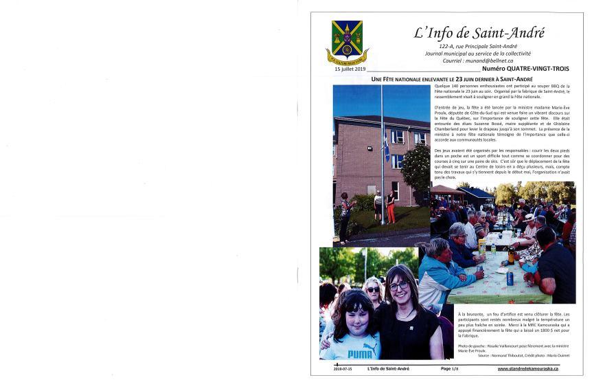 L'info de Saint-André juillet 2019