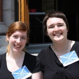 Joanna and Kara - Our Wonderfully Welcoming Tour Guides for the Summer of 2014