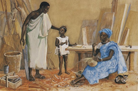 Jesus as a child in Nazareth