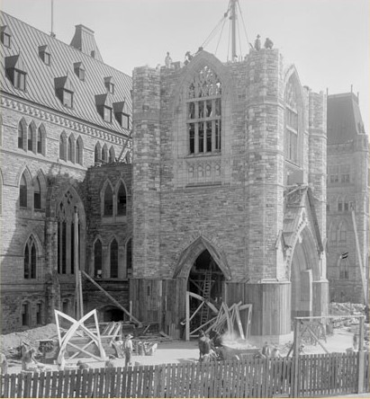 The Peace Tower Under Construction, 1921