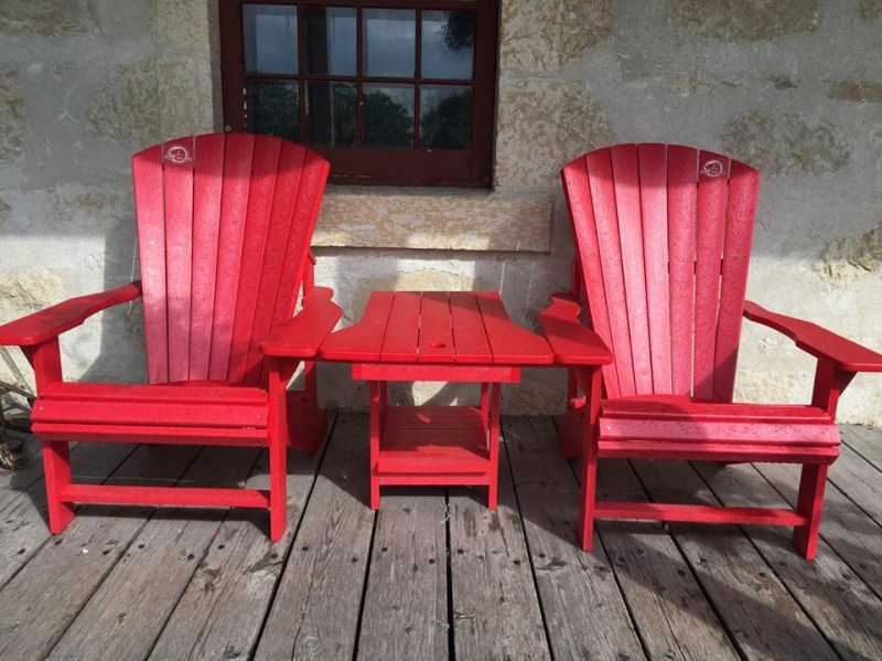 Red Chairs at St. Andrews Rectory