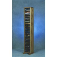 Wood Shed Solid Oak 52 inch Tall DVD Rack 110-4DVD