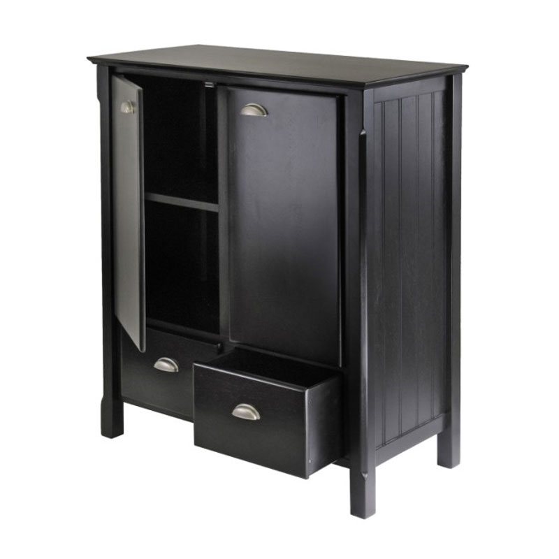 Winsome Wood Timber Storage Cabinet Matte Black 20136