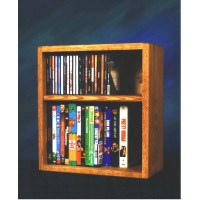 Wood Shed Solid Oak CD DVD VHS Rack Various Finishes 211-1W