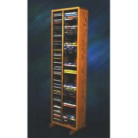 Wood Shed Solid Oak Tall CD DVD VHS Storage Rack (Various ...