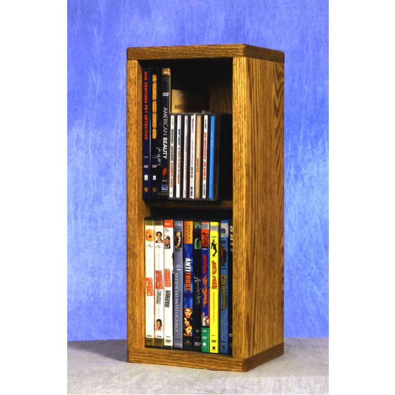 Wood Shed Small Capacity 2 Shelf CD DVD Rack Oak 215