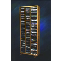Wood Shed Solid Oak Tall CD DVD VHS Storage Rack Various ...